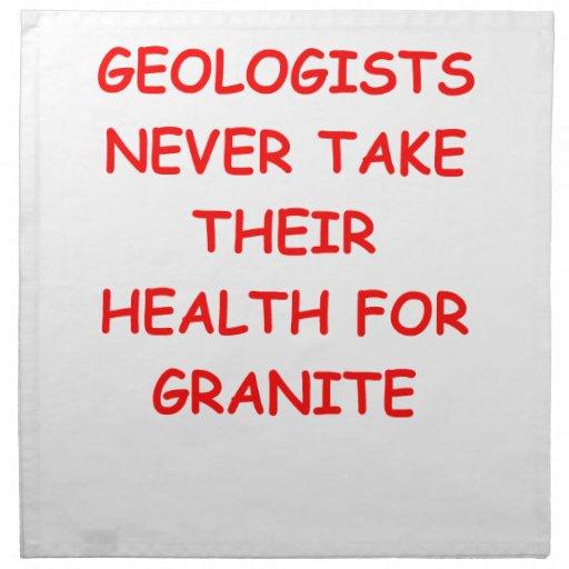 geología servilletas