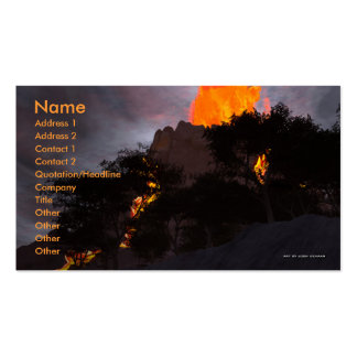 Geologic Activity Business Card Template