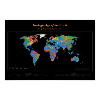 Geologic Age of the World Print