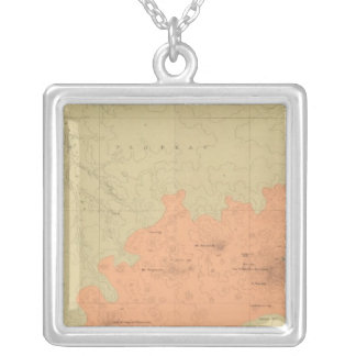 Geologic Map Of The Colorado Plateau Square Pendant Necklace