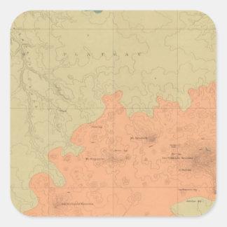 Geologic Map Of The Colorado Plateau Square Sticker