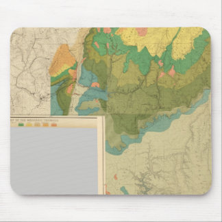 Geologic map sheets mouse pad