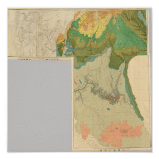 Geologic map sheets poster