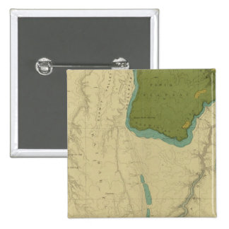 Geologic Map Showing The Kanab 2 Inch Square Button