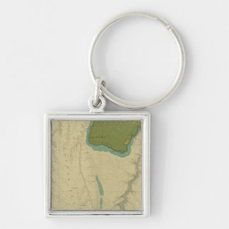 Geologic Map Showing The Kanab Silver-Colored Square Keychain