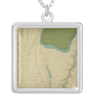 Geologic Map Showing The Kanab Square Pendant Necklace