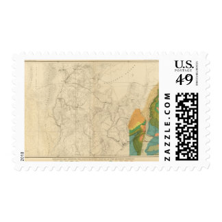 Geologic Map Showing The South Western Portion Postage