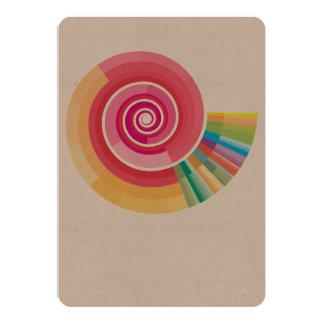Geologic timescale spiral card