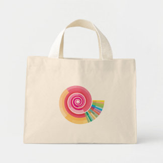 Geologic timescale spiral mini tote bag