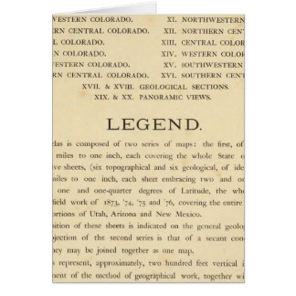 Geological and geographical atlas of Colorado Card