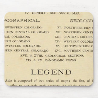 Geological and geographical atlas of Colorado Mouse Pad
