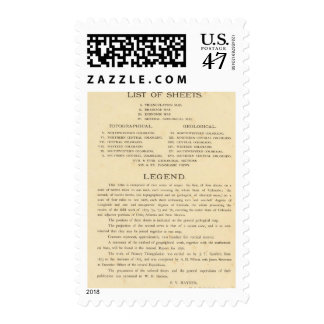 Geological and geographical atlas of Colorado Postage