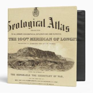 Geological Atlas Title Page Vinyl Binders