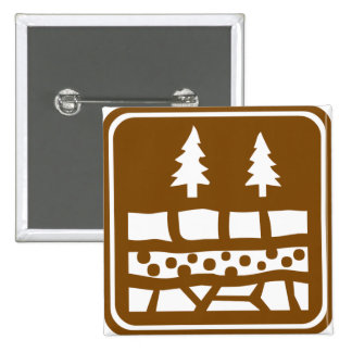 Geological Attraction Highway Sign 2 Inch Square Button