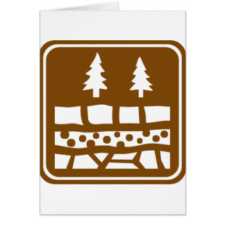 Geological Attraction Highway Sign Card