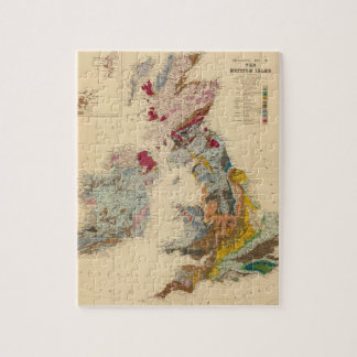 Geological map, British Isles Jigsaw Puzzle
