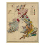 Geological map, British Isles Posters