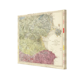 Geological map Dublin Canvas Print