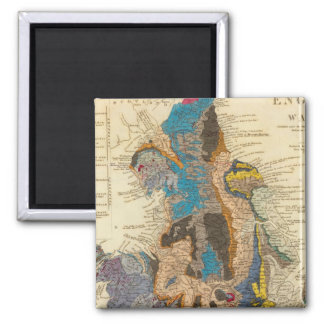 Geological map, England, Wales 2 Inch Square Magnet