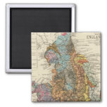 Geological map England, Wales 2 Inch Square Magnet