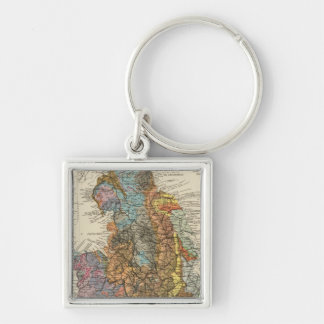 Geological map England, Wales Keychain