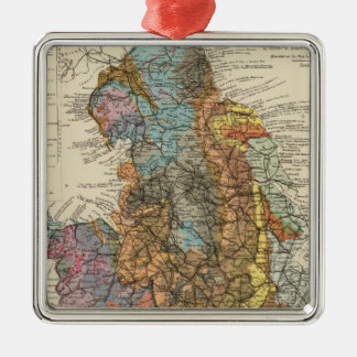 Geological map England, Wales Metal Ornament