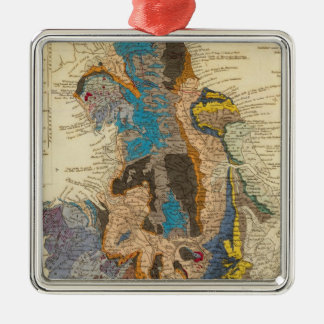 Geological map, England, Wales Metal Ornament