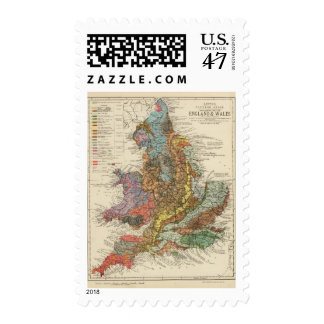 Geological map England, Wales Postage
