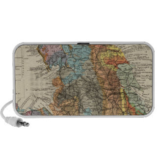 Geological map England, Wales iPod Speaker