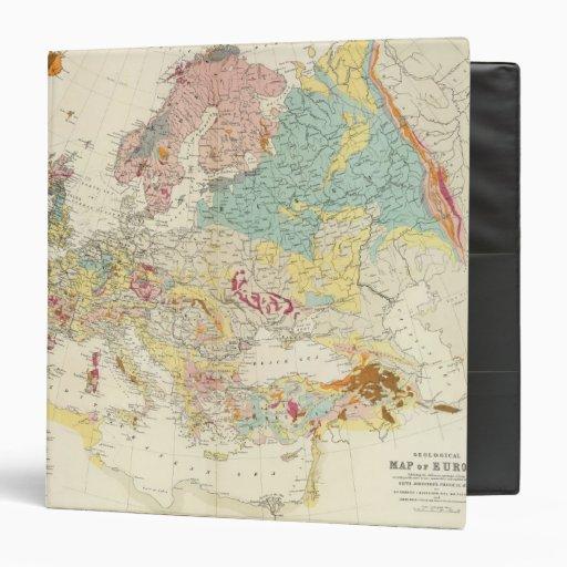 Geological map Europe Binder