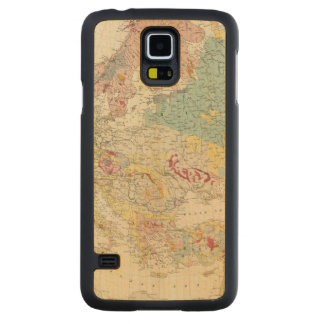Geological map Europe Carved® Maple Galaxy S5 Slim Case