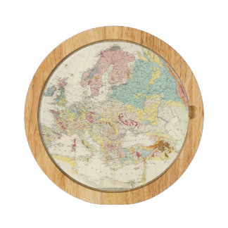 Geological map Europe Round Cheese Board