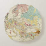 Geological map Europe Round Pillow