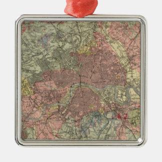 Geological map London Metal Ornament