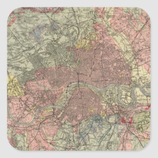Geological map London Square Sticker
