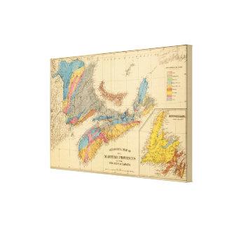 Geological map, Maritime Provinces Canvas Print