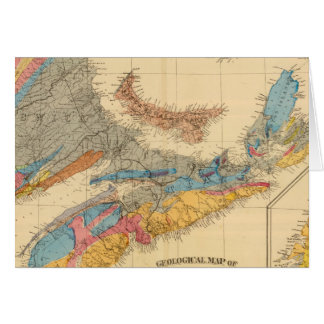 Geological map, Maritime Provinces Card