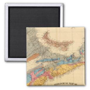 Geological map, Maritime Provinces Magnet