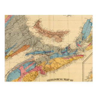 Geological map, Maritime Provinces Postcard
