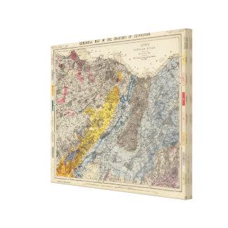 Geological map of Edinburgh Canvas Print