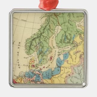 Geological Map of Europe Metal Ornament