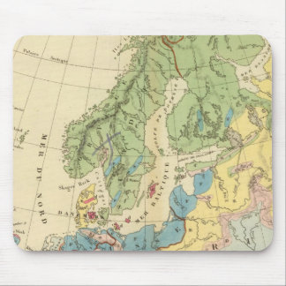 Geological Map of Europe Mouse Pad