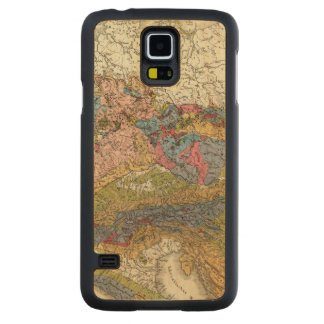 Geological map of Germany Carved® Maple Galaxy S5 Slim Case