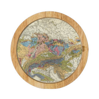 Geological map of Germany Cheese Platter