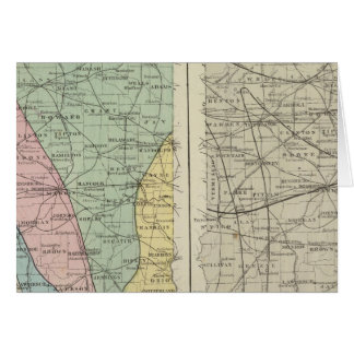 Geological map of Indiana Card