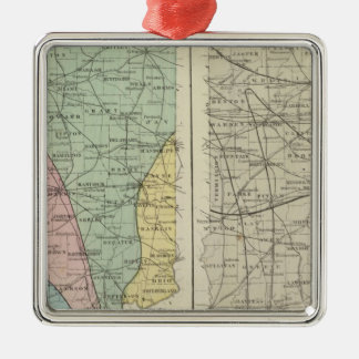 Geological map of Indiana Metal Ornament