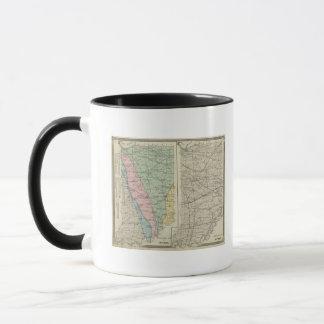 Geological map of Indiana Mug