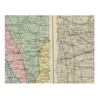 Geological map of Indiana Postcard