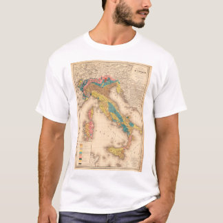 Geological Map of Italy by H. de Collegno (1844) T-Shirt
