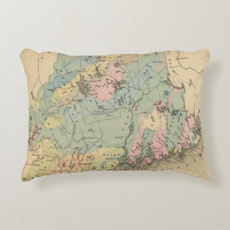 Geological map of Maine Decorative Pillow